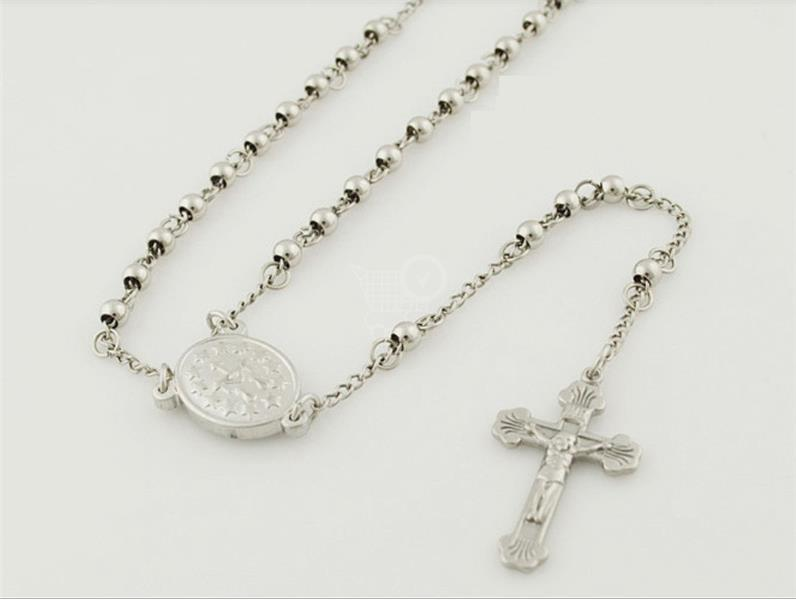 MIRANDA ocelova náhrdelník - ruženec strieborna