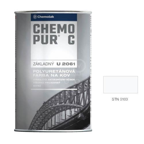 CHEMOLAK Chemopur G U 2061 polyuretánová Základná dvojzložková farba matná - 0100 biela, 1kg