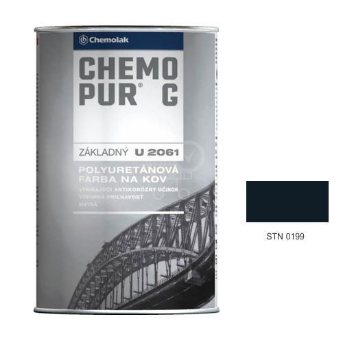 CHEMOLAK Chemopur G U 2061 polyuretánová Základná dvojzložková farba matná - 0199 cierna, 1kg