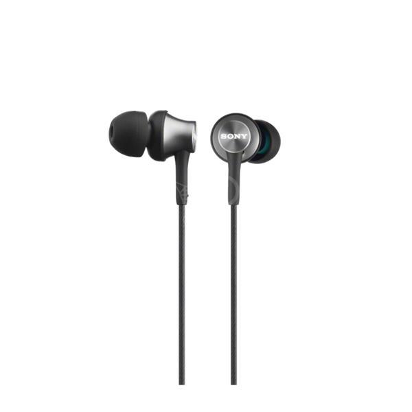 SONY sluchátka MDR-EX450AP, hliník, handsfree,šedá