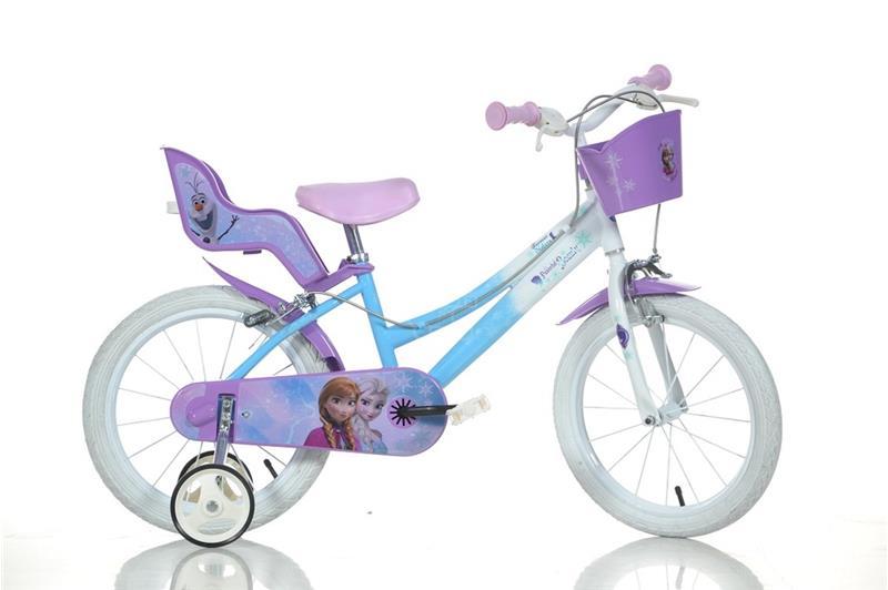 """DINO BIKES Detský DINO 166RFZ Frozen so sedačkou pre bábiku a košíkom - 16"""""""