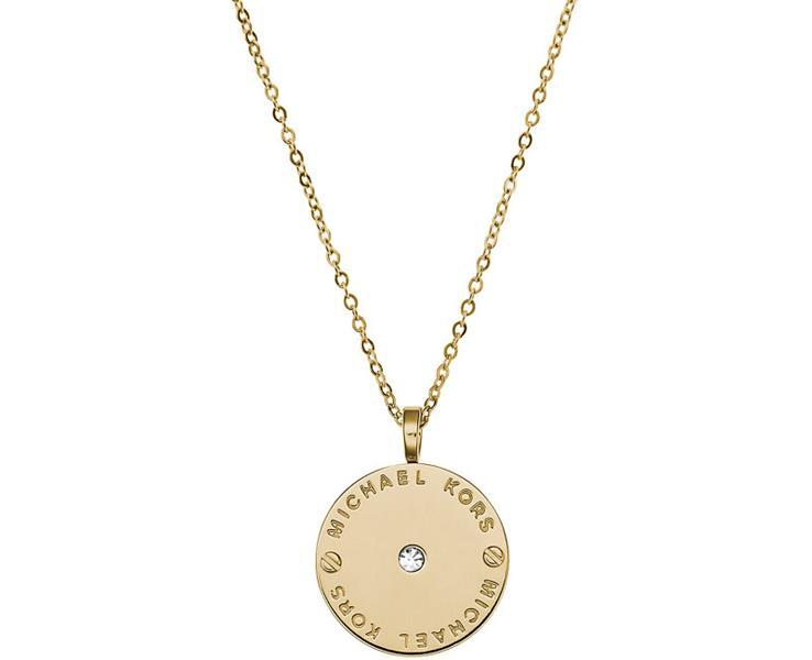 MICHAEL KORS Zlatý náhrdelník s okrúhlym príveskom