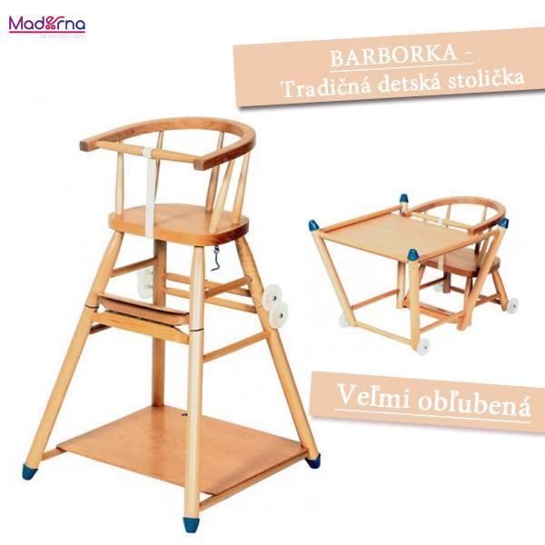 DEMA detská drevená stolička Barborka
