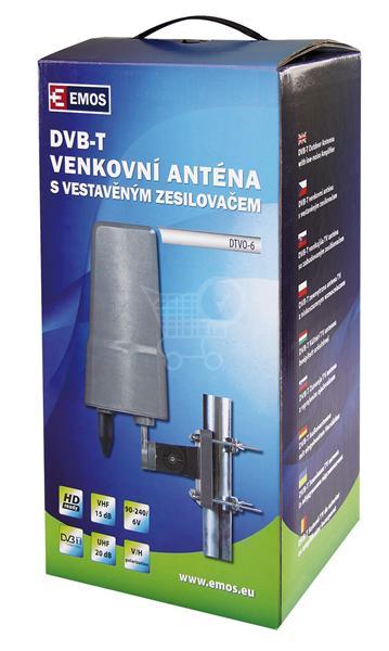 EMOS DVB-T aktívna anténa DTVO-6 (J0658)
