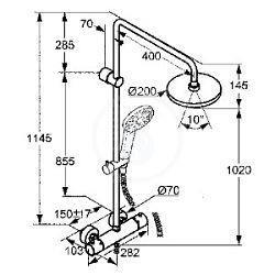 KLUDI sprchová SÚPRAVA THERMOSTAT dual Shower SYSTEM, art.-č. 6609505-00