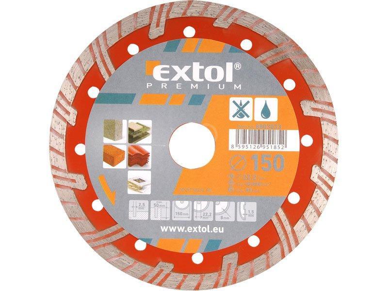 EXTOL Kotúč rezný diamantový Turbo PLUS 230 mm