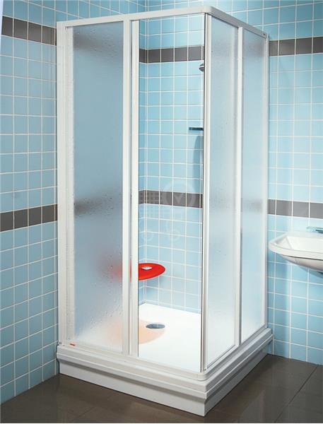 RAVAK SUPERNOVA sprchovací kút ROHOVÝ SRV2-S 80 biela Pearl